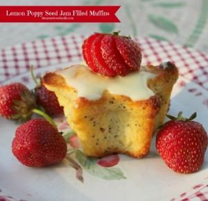 Lemon-Poppy-Seed-Strawberry-Jam-Filled-Muffins