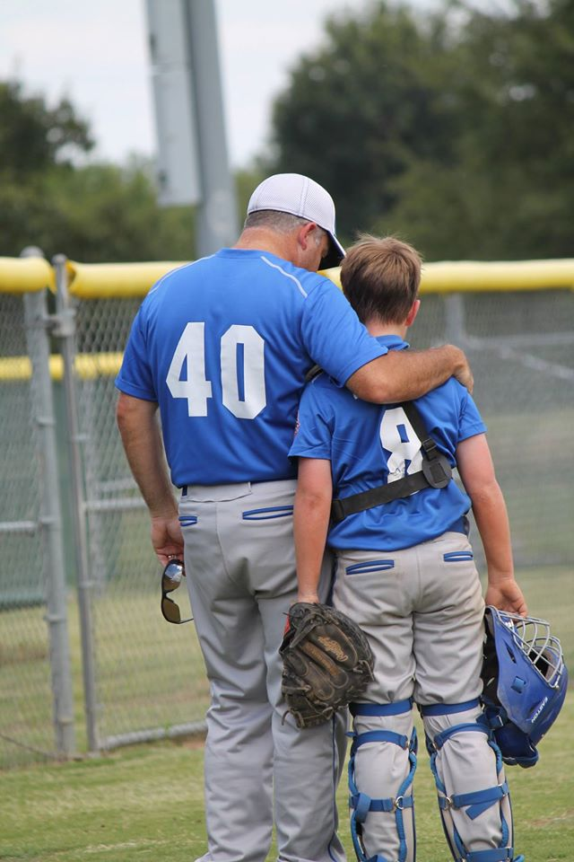 Chet with his coach (photo courtesy of Making Memories with Ms. Heather)