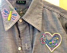 1970's shirt front